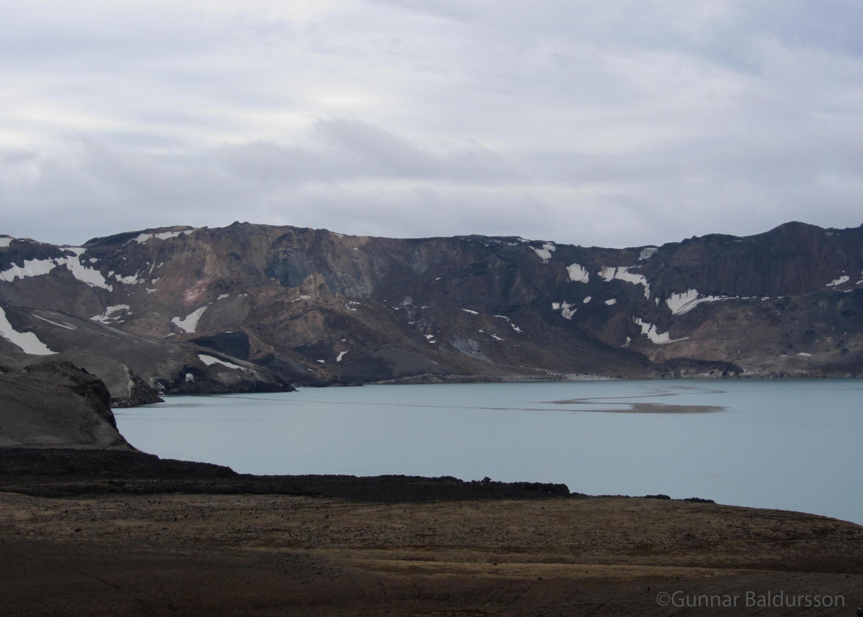 Brotsár eftir berghlaup í Suðurbotnum í júlí 2014.