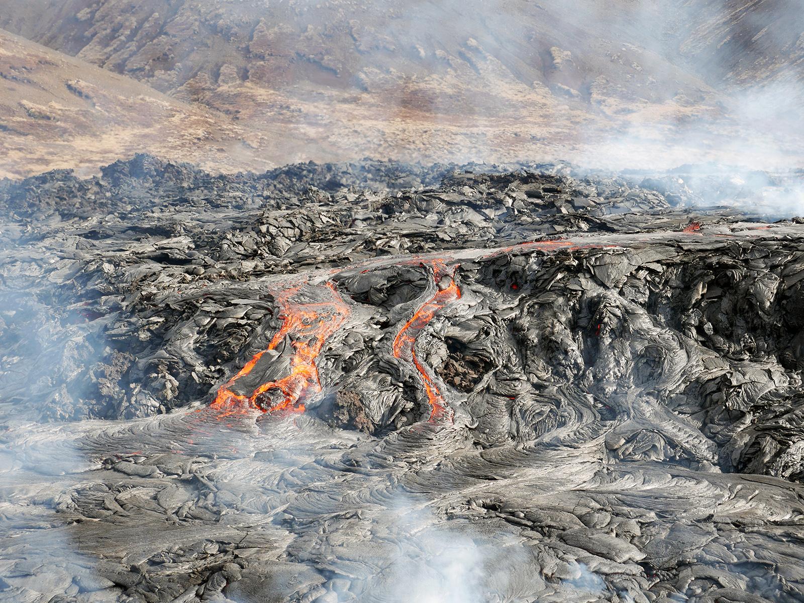 Þunnfljótandi helluhraun